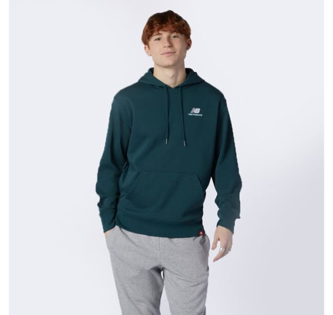 New Balance Essentials Embroidered Hoodie Green